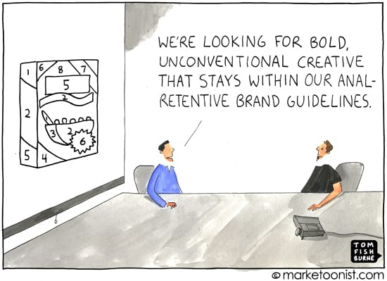 cartoon: brand guidelines