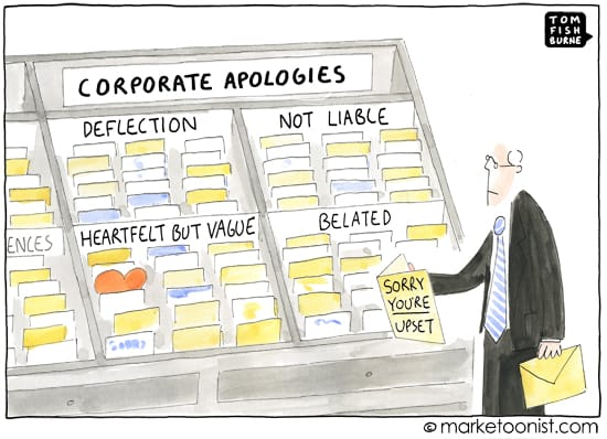 cartoon - corporate apologies