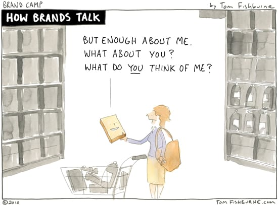 cartoon: how brands talk