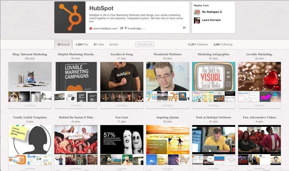 B2B Content Marketing - Hubspot on Pinterest