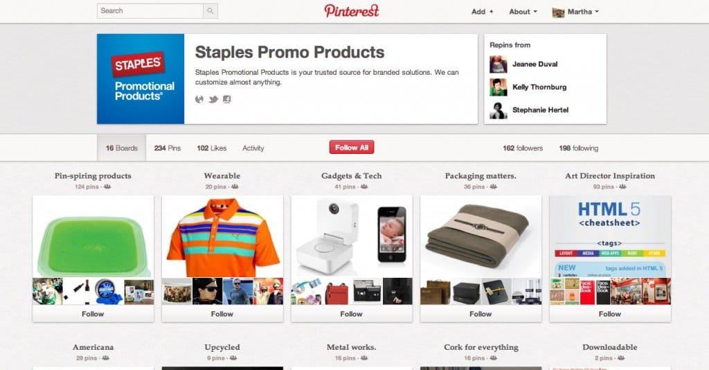 B2B Content Marketing - Staples on Pinterest