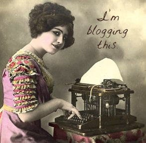 i am blogging