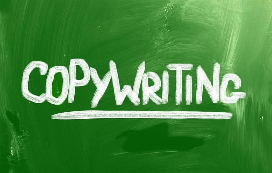 Copywriting written on blackboard