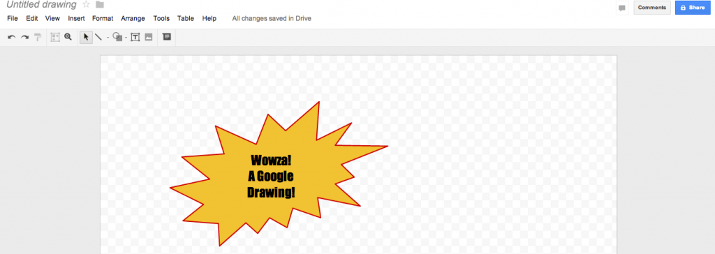 Google Drawings tool in blog posts