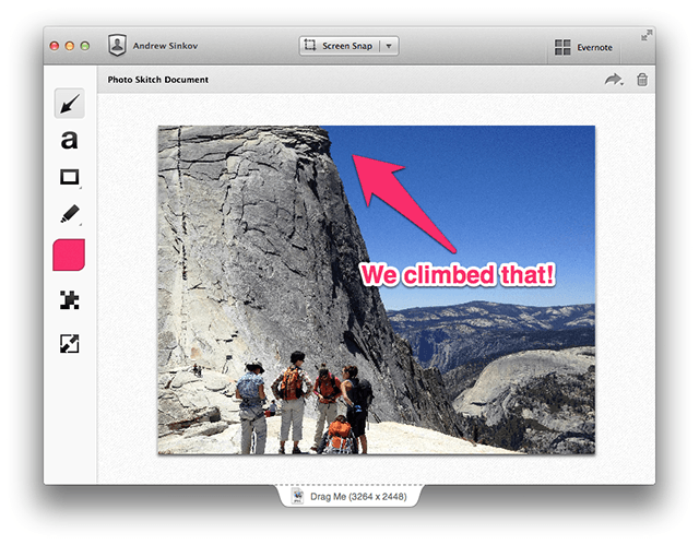 Skitch images in blog posts